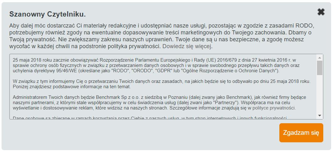 RODO Benchmark