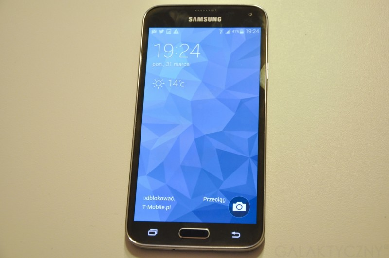 Samsung Galaxy S 5 - przedni panel / fot. galaktyczny