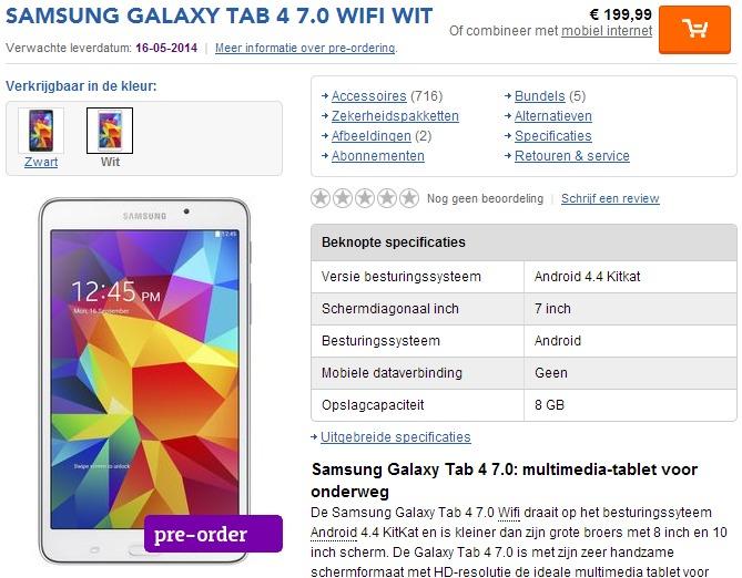 Galaxy Tab 4 7.0 WiFi / fot. tabletcenter