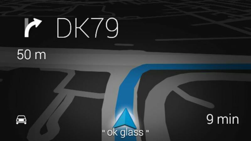 Nawigacja w Google Glass / fot. galaktyczny