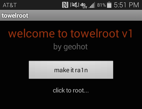 TowelRoot / źródło: XDA Developers