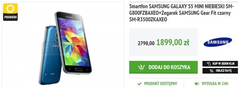 Samsung Galaxy S5 mini z Gear Fit w przedsprzedaży