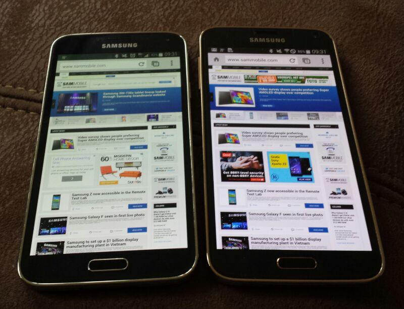 Ekran w Galaxy S5 i Galaxy S5 LTE-A