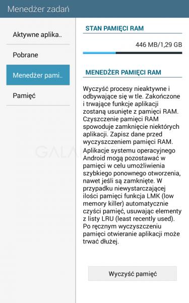 Pamięć RAM w Galaxy Tab 4 7.0