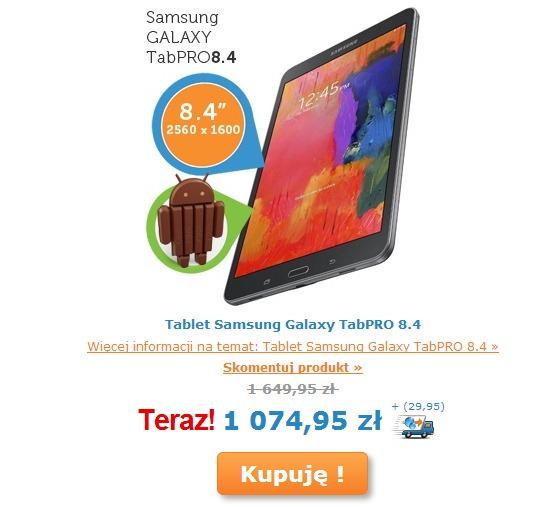 Galaxy Tab PRO 8.4 na iBOOD