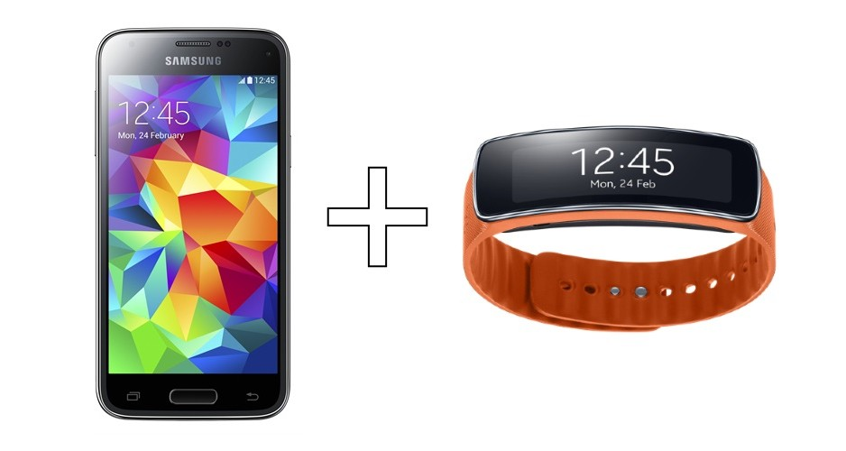 Samsung Galaxy S5 mini i Gear Fit