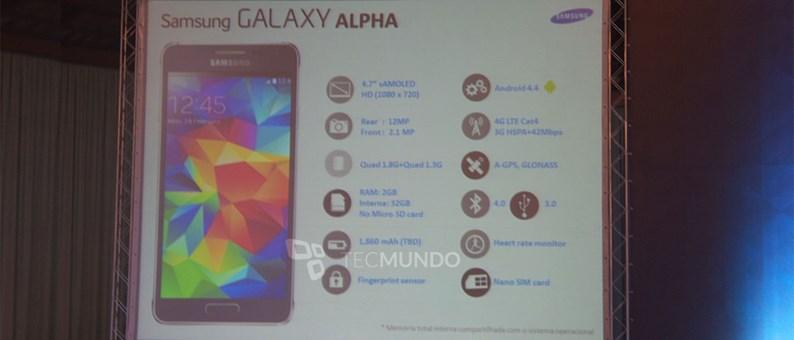 Specyfikacja Galaxy Alpha / fot. Tecmundo