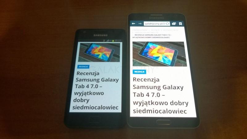 Galaxy S II i Galaxy Note 3 - ekran / fot. galaktyczny.pl