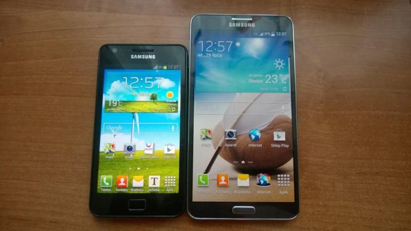 Galaxy S II i Galaxy Note 3 - ekran główny
