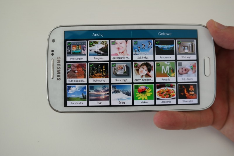 Galaxy K Zoom - Tryby