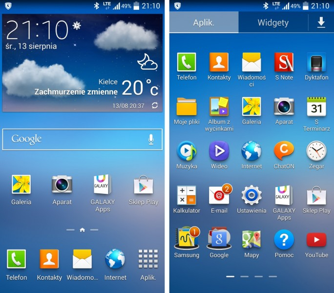 TouchWiz Nature UX w Galaxy Note 3