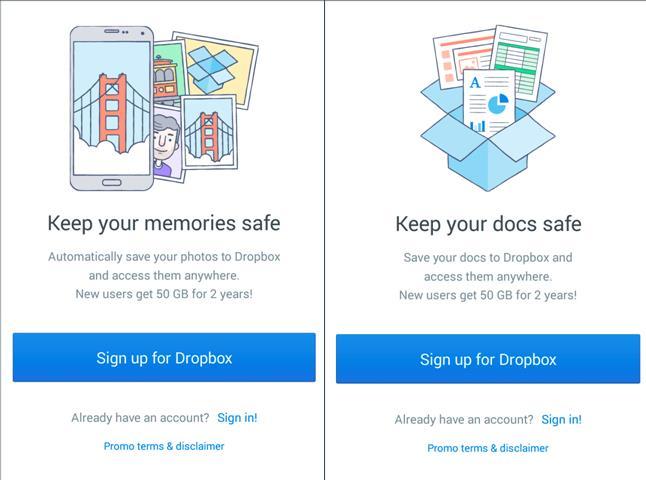 Aplikacja Dropbox