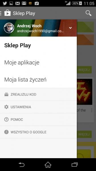 Aplikacja Google Play