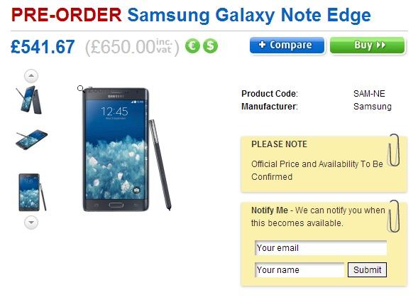 Przedsprzedaż Galaxy Note Edge w Clove