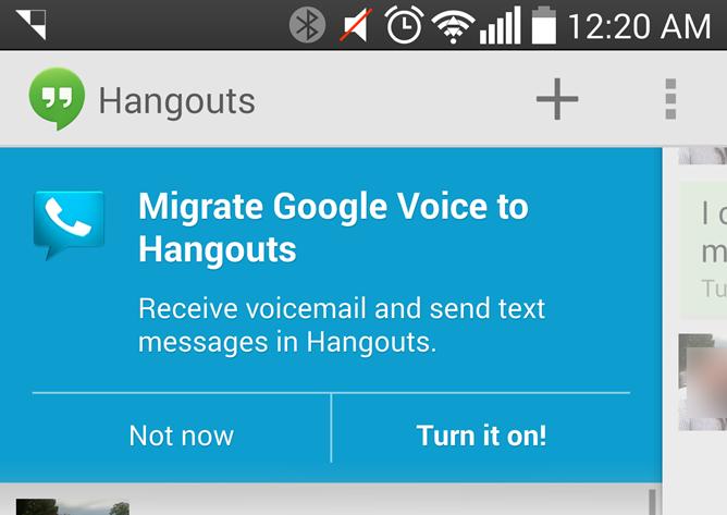 google hangouts voice