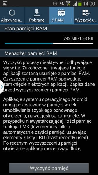 Galaxy Grand 2 - pamięć RAM