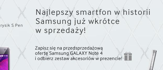 Samsung Galaxy Note 4 - Przedsprzedaż