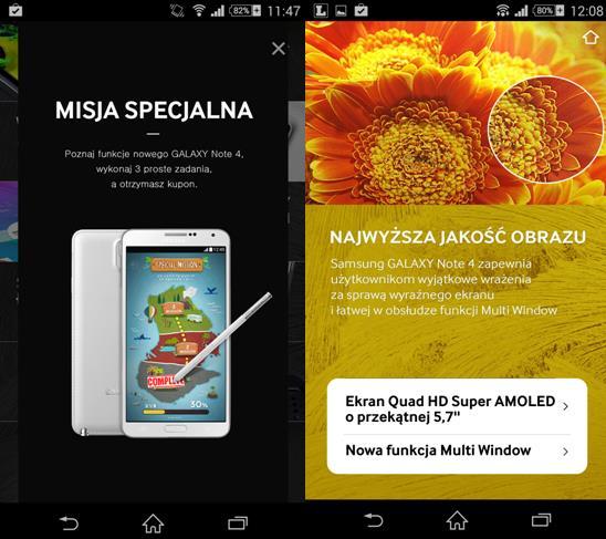 Aplikacja GALAXY Note4 Spisany na sukces