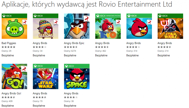 Promocja Angry Birds