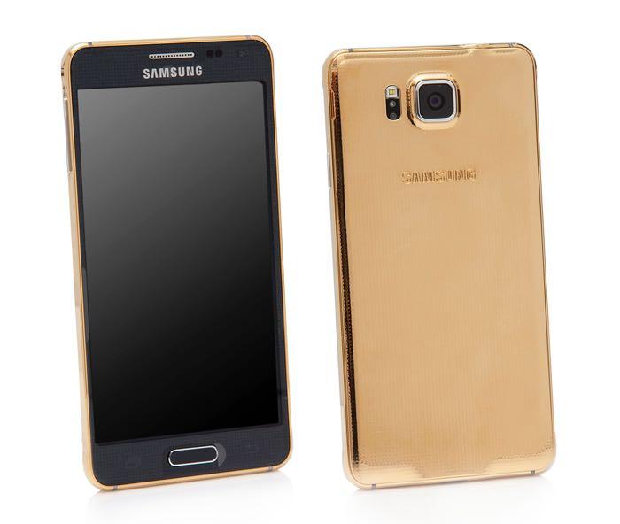 Złoty Samsung Galaxy Alpha