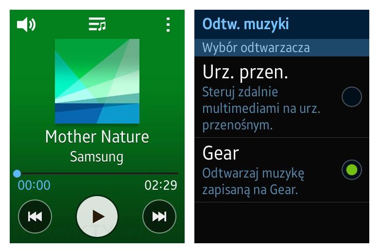 Samsung Gear S - Muzyka