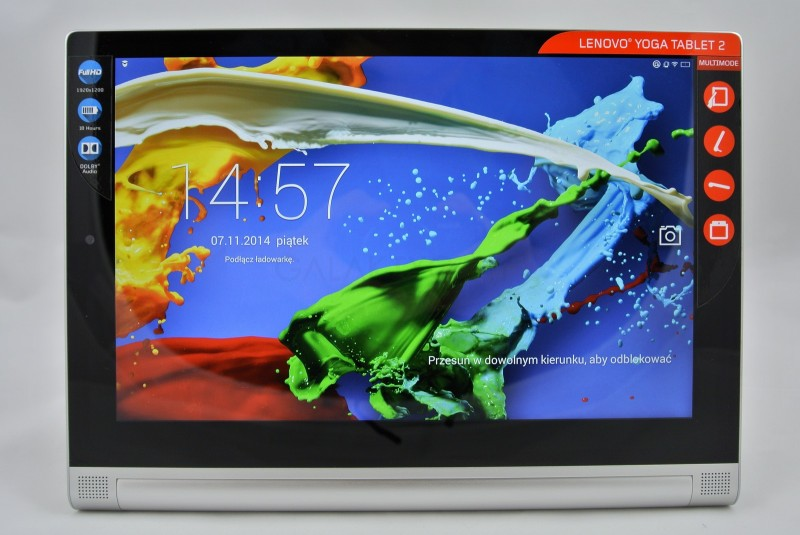 Lenovo Yoga Tablet 2 - ekran / fot. galaktyczny
