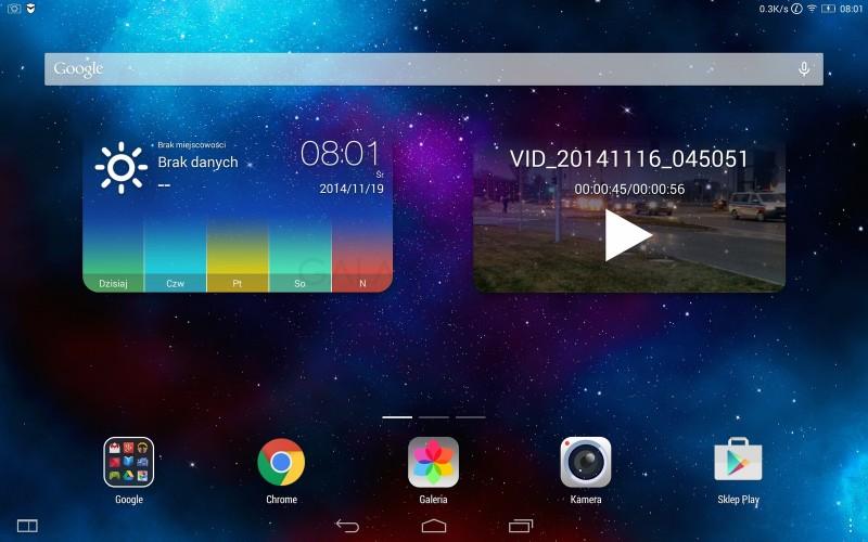 Lenovo Yoga Tablet 2 - ekran główny / fot. galaktyczny