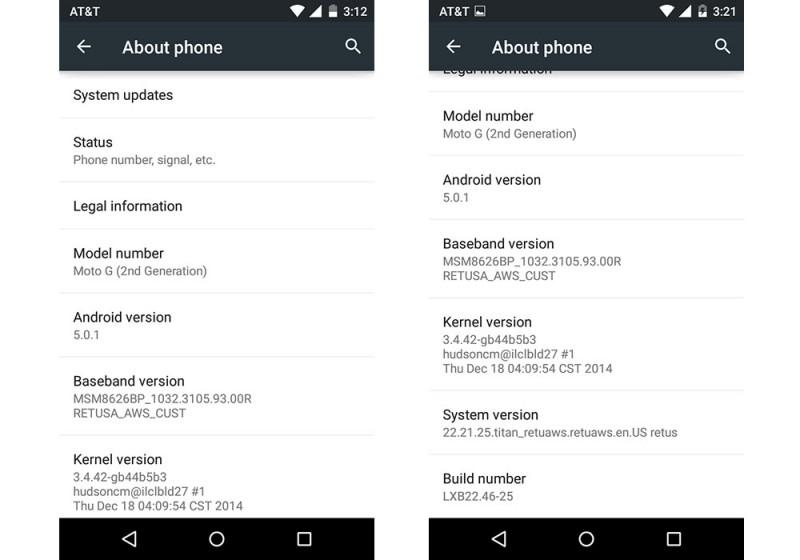 Android 5.0.1 Lollipop dla Moto G / fot. Droid-Life