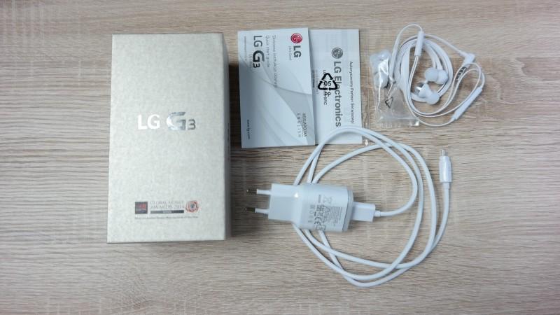 LG G3 - zawartość zestawu / fot. galaktyczny