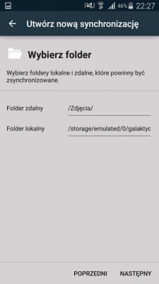 Foldery do synchronizacji