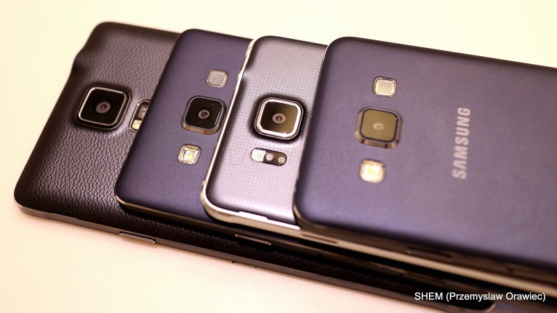 Od góry: Galaxy A3, Galaxy Alpha, Galaxy A5 i Galaxy Note 4 / fot. galaktyczny.pl