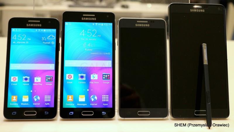 Galaxy A3, Galaxy A5, Galaxy Alpha i Galaxy Note 4 / fot. galaktyczny.pl