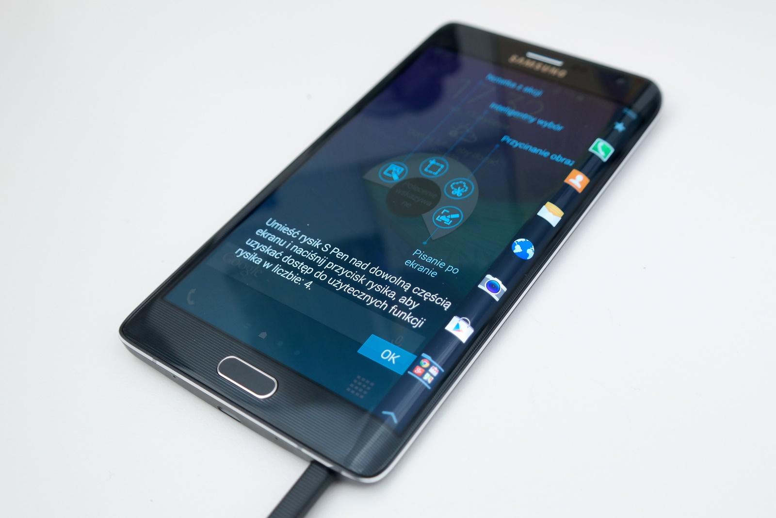 Samsung Galaxy Note Edge - rysik / fot. galaktyczny