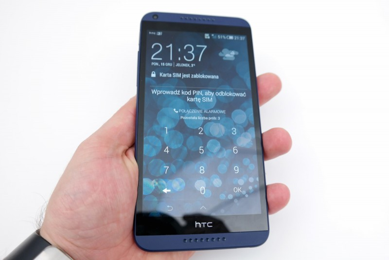 HTC Desire 816 - ekran / fot. galaktyczny.pl
