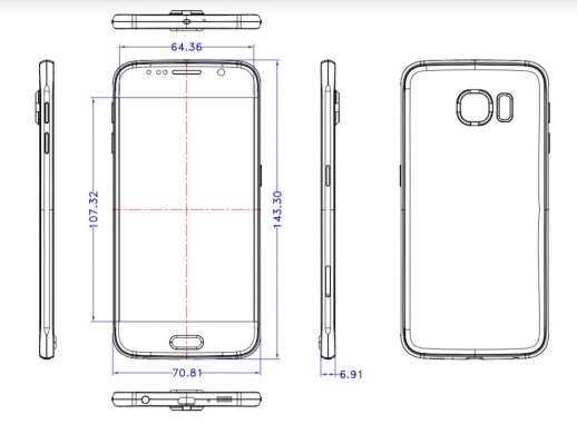 Wymiary Galaxy S6 / fot. underkg