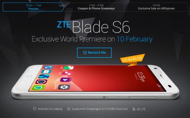 ZTE Blade S6 / fot. AliExpress