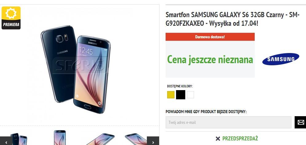 Galaxy S6 w Sferis / fot. Sferis