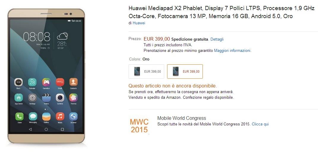 Huawei MediaPad X2 / fot. Amazon