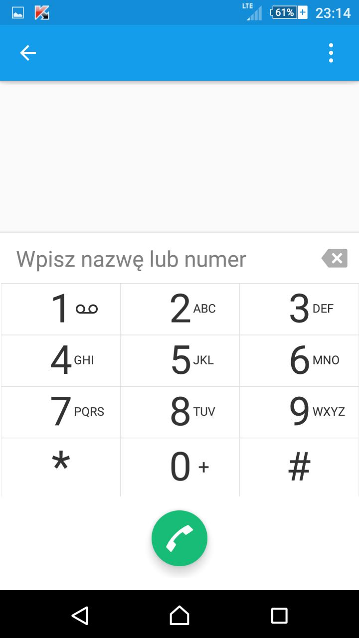 Lollipop na Xperia Z3 - tryb telefonu