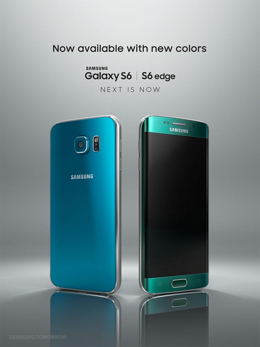 Galaxy S6 Blue Topaz i Galaxy S6 Edge Emerald Green / fot. Samsung