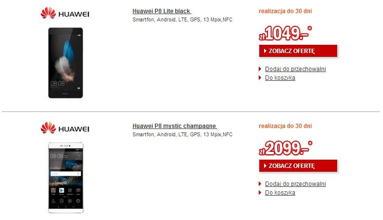Ceny Huawei P8 i Huawei P8 Lite / fot. Redcoon