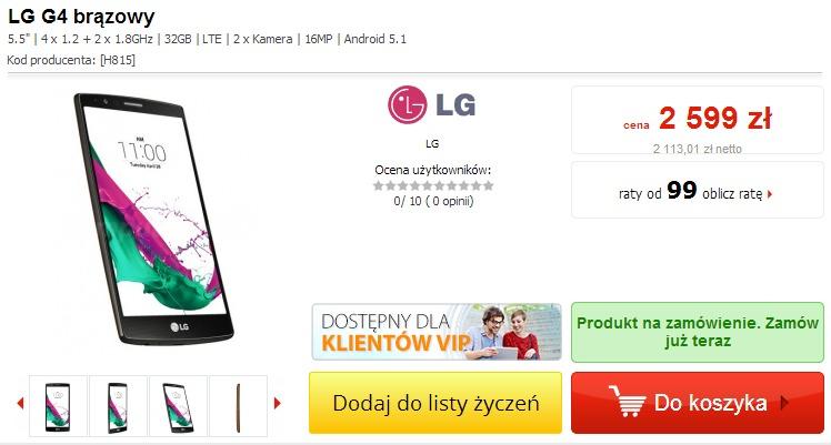 LG G4 / fot. Komputronik