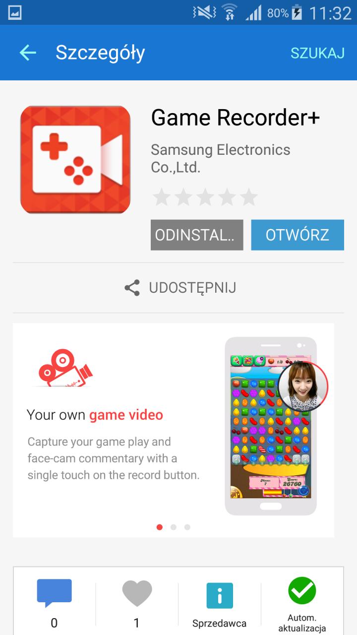 Game Recorder+ / fot. galaktyczny.pl