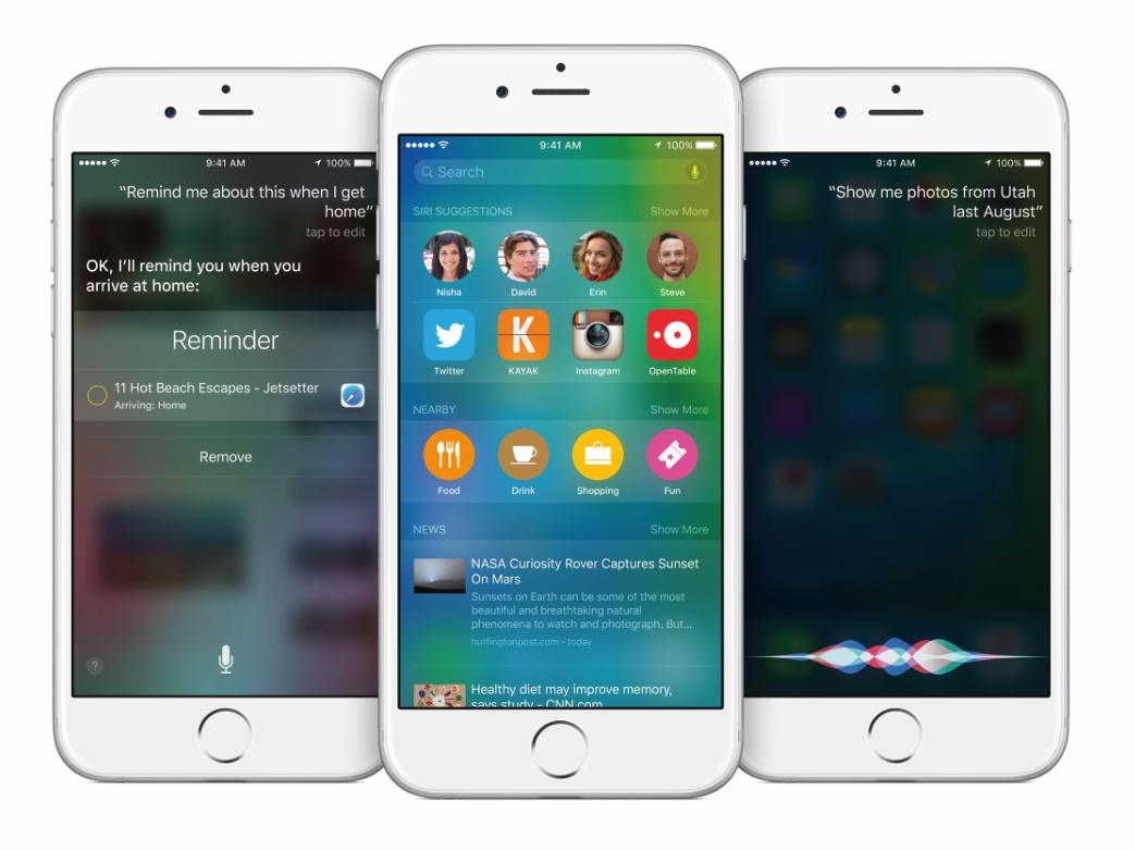 Siri na iPhone 6 / fot. Apple