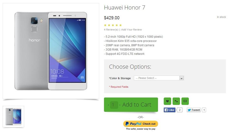 Huawei Honor 7 w ofercie OppoMart / fot. OppoMart