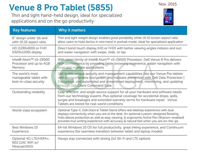 Dell Venue 8 Pro 5855 / fot. Giga