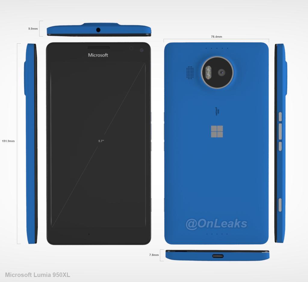 Lumia 950 XL / fot. OnLeaks