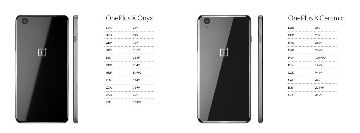 OnePlus X - ceny