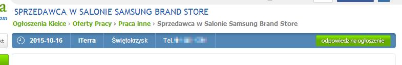 Brand Store w Kielcach / źródło: Pajeczyna