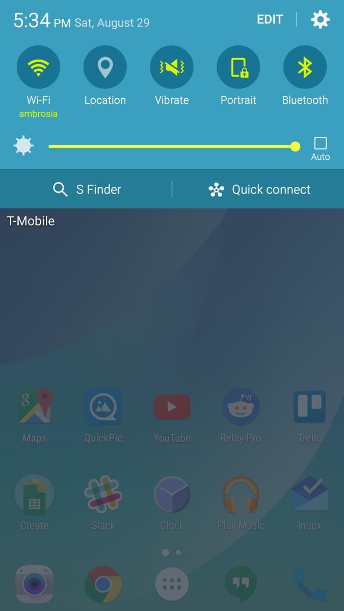 Galaxy Note 5 - belka powiadomień w Lollipop / fot. XDA